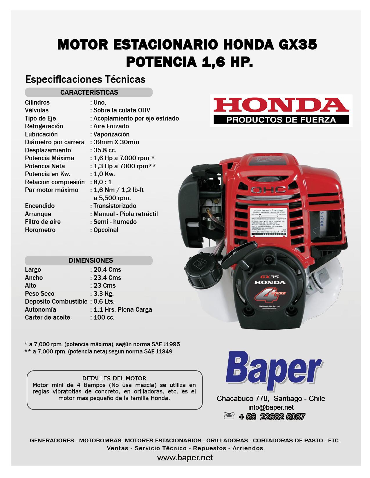 motor estacionario honda bencinero gx35 1 6 hp baper honda gx35 manuel francais honda gx35 workshop manual